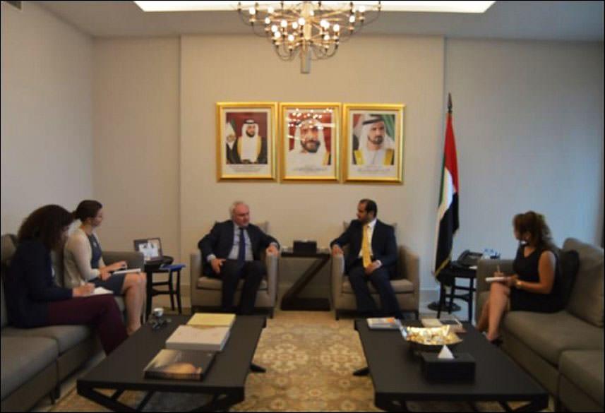 سفير الإمارات يلتقي شمالي || غياب التنمية سبب رئيسي لتفشي الإرهاب