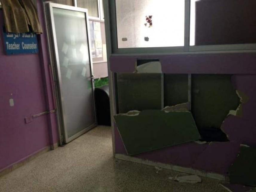مجهولون يعتدون على مدرسة والنقب في الرشيدية