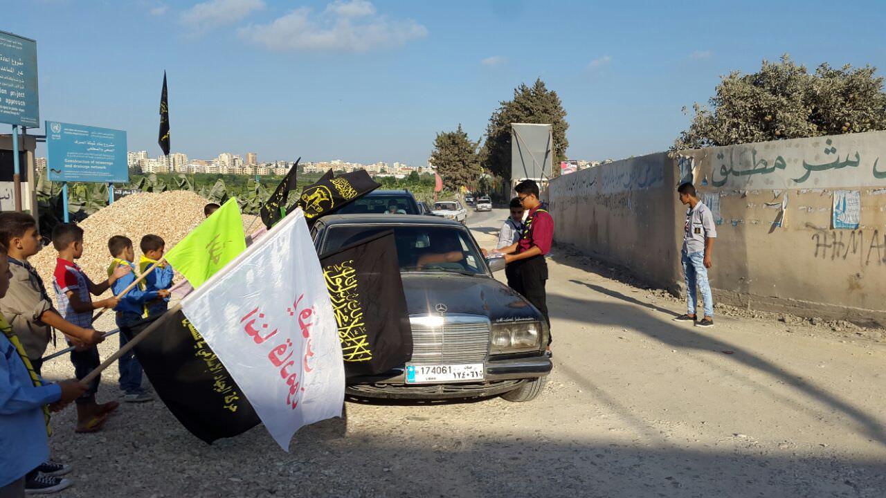 كشافة بيت المقدس تستقبل العيد بمسيرات وحواجز محبة في المخيمات