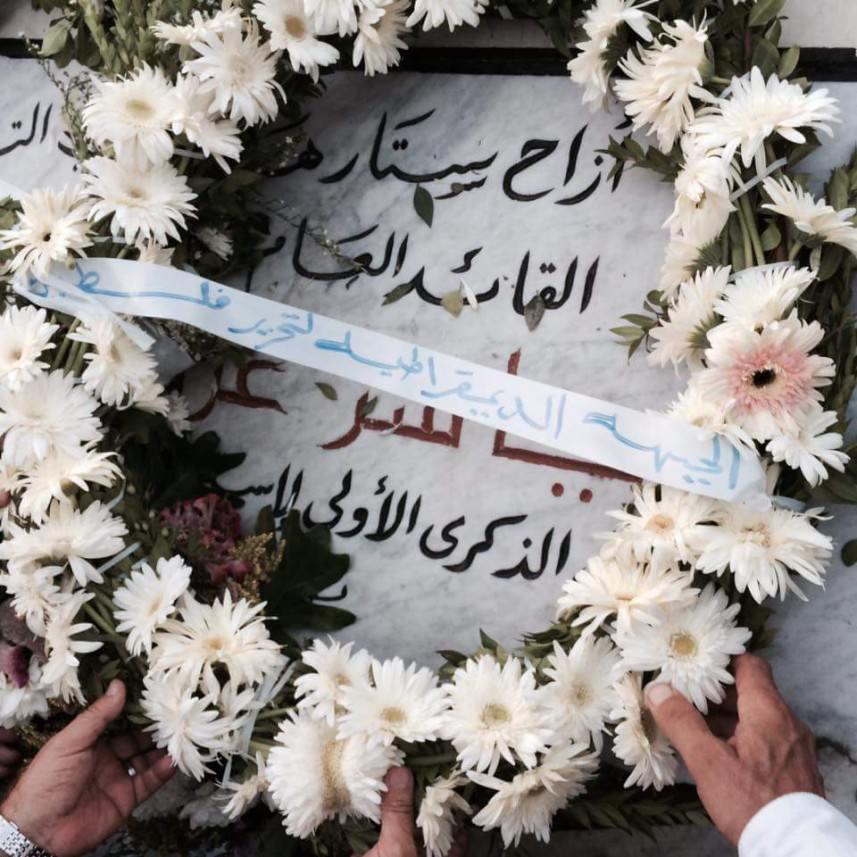 الفصائل الفلسطينية تزور مقبرة شهداء تل الزعتر في شاتيلا