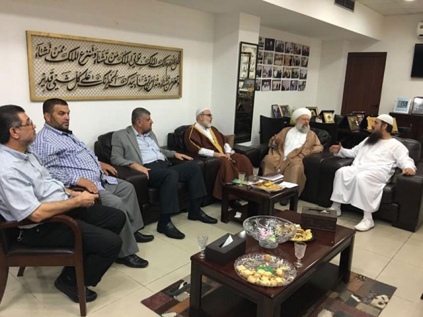 لقاء ثلاثي جمع الجهاد الإسلامي والمتابعة العليا وعلماء المقاومة في صيدا