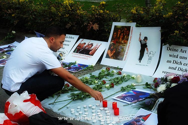 وقفة إستنكار و تضامن أمام السفارة الإيطالية في برلين