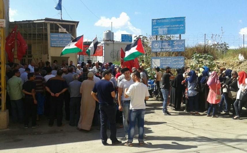 اعتصام في مخيم نهر البارد طالب بعودة خطة الطوارئ وإعمار المخيم