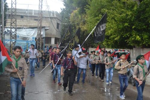 مسيرة كشفية دعماً للمسجد الأقصى والقدس في مخيم البص