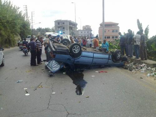 جريح فلسطيني بحادث سير في صيدا