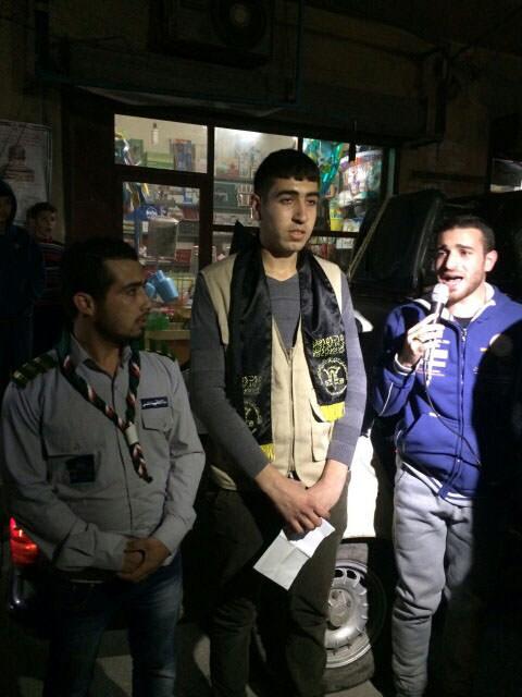 مسيرة مشاعل ليلية في الرشيدية دعماً للمسجد الأقصى