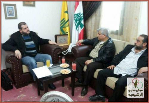 حزب الله في صيدا يستقبل وفداً من النازحين الفلسطينيين