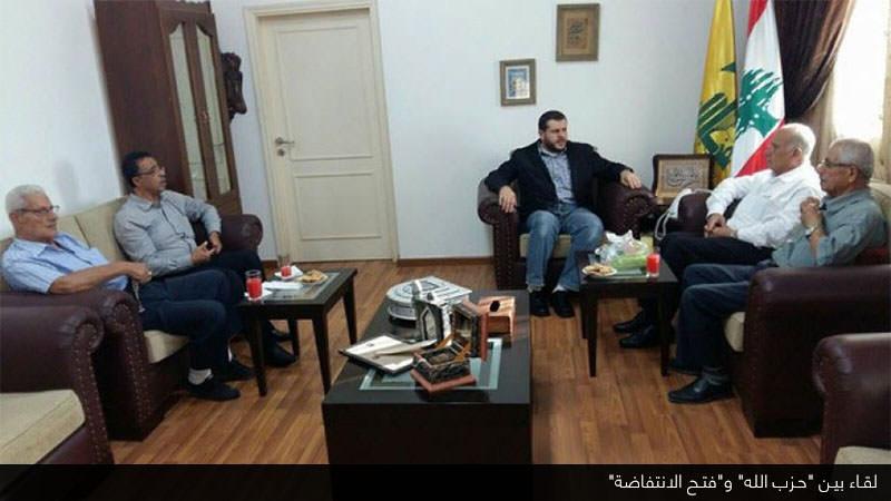 حزب الله وفتح الانتفاضة يبحثان أوضاع فلسطين وعين الحلوة في صيدا