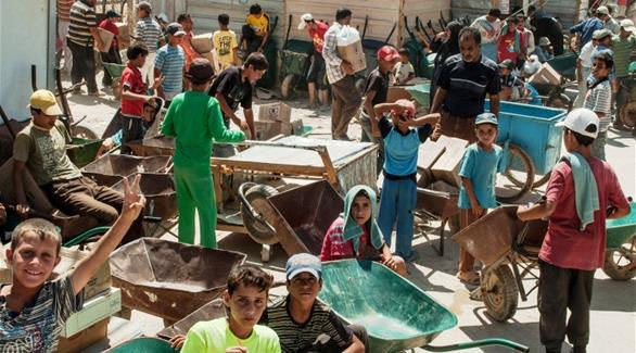 اليونيسيف: 60% من أطفال سوريا في مخيم الزعتري يعملون