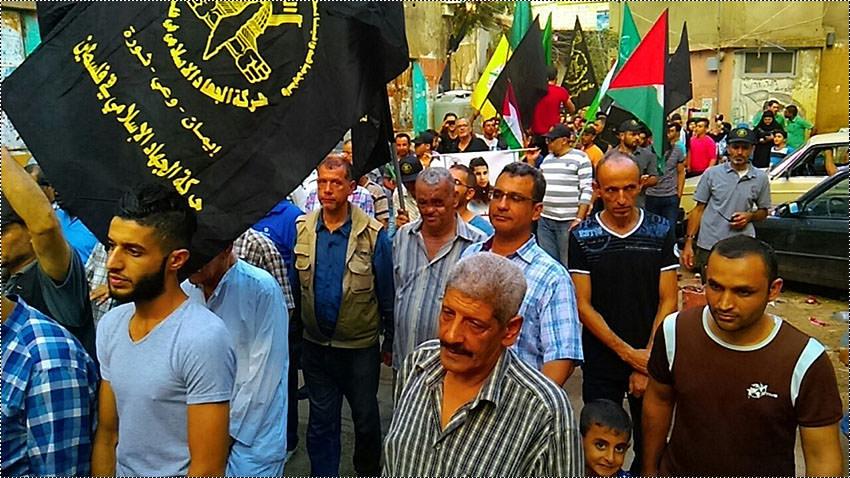 الجهاد الإسلامي تنتفض في مخيم برج البراجنة تضامناً مع الانتفاضة الثالثة