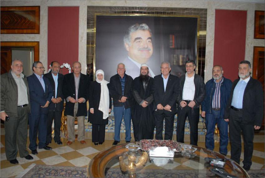 اللجنة الأمنية في المخيمات تلتقي بهية الحريري والجماعة الإسلامية