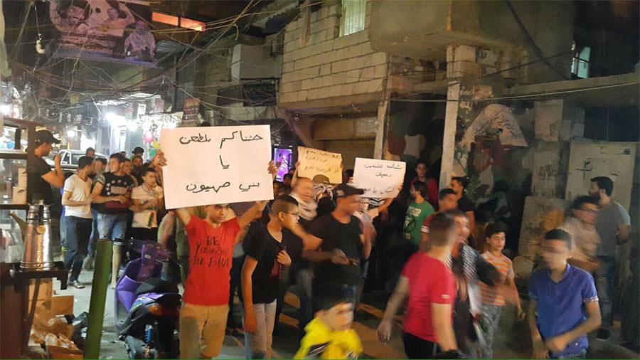 مسيرة في مخيم عين الحلوة دعماً لانتفاضة القدس