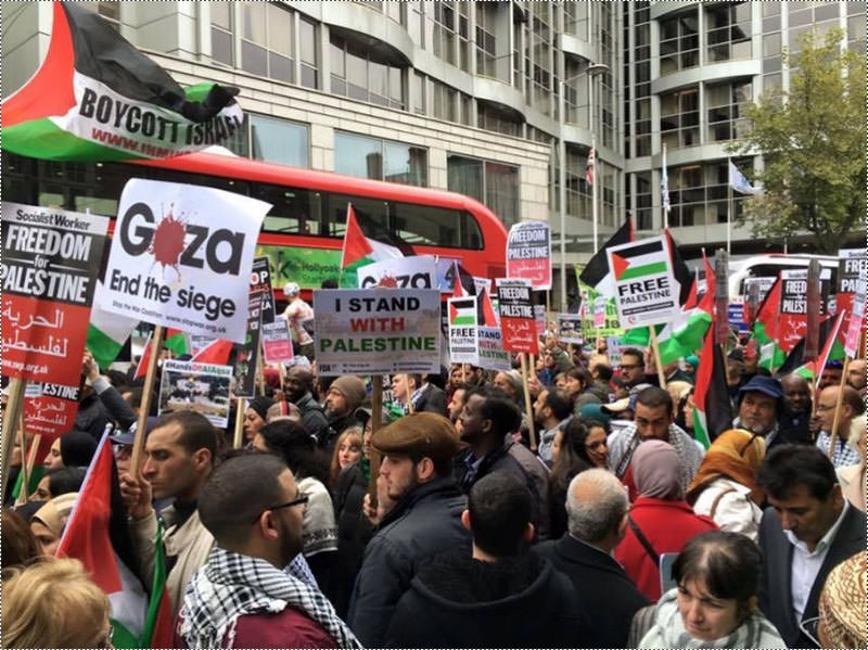 مظاهرات حاشدة بأوروبا وأمريكا دعماً للشعب الفلسطيني