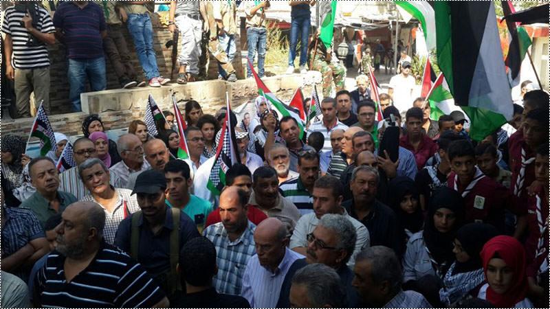 اعتصام جماهيري لحركة فتح دعماً لانتفاضة القدس في مخيم عين الحلوة