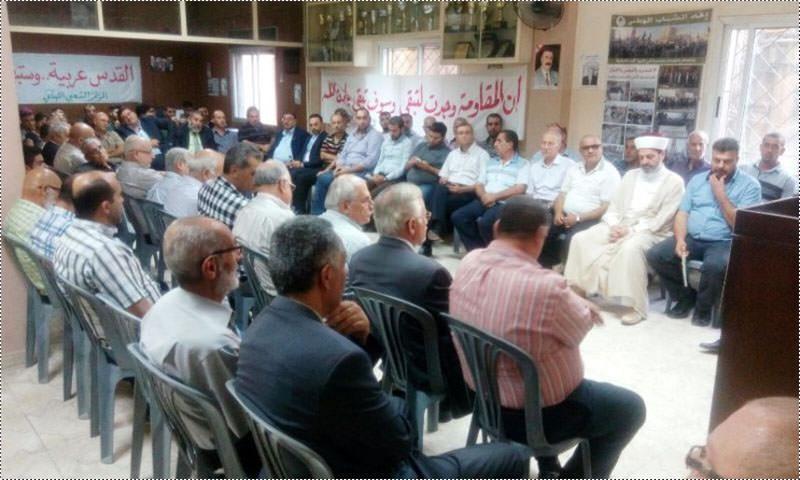 لقاء تضامني مع فلسطين وانتفاضتها في طرابلس