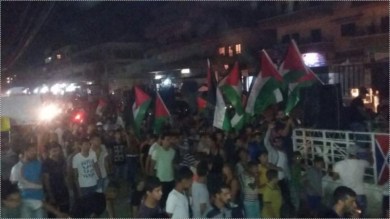 مسيرة جماهيرية في مخيم نهر البارد دعماً لانتفاضة القدس