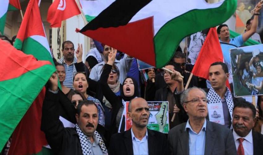 مسيرات بدول عربية نصرة للشعب الفلسطيني