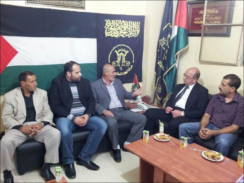 حركة الجهاد الإسلامي تستقبل القومي الناصري في مخيم البداوي