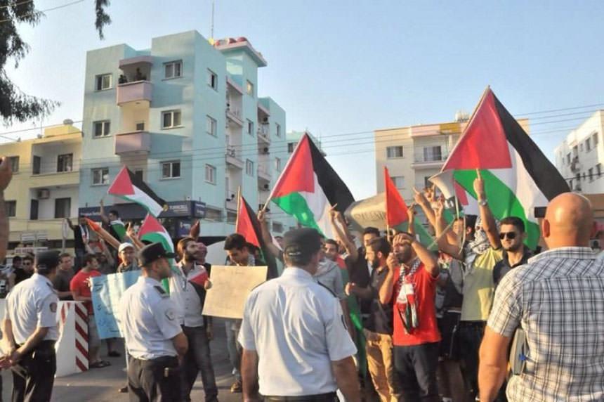 الجالية الفلسطينية في قبرص تتضامن مع انتفاضة القدس