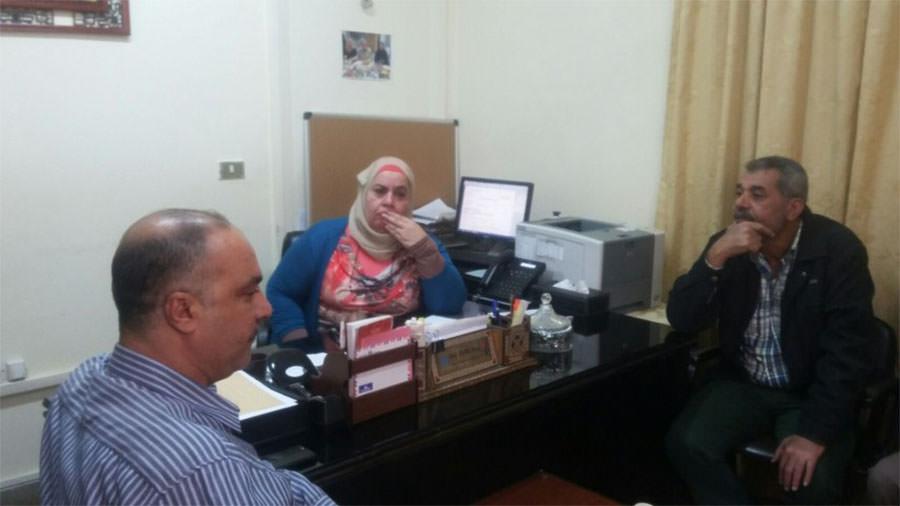 نساء مخيم نهر البارد يعتصمن داخل مكتب الأونروا في طرابلس