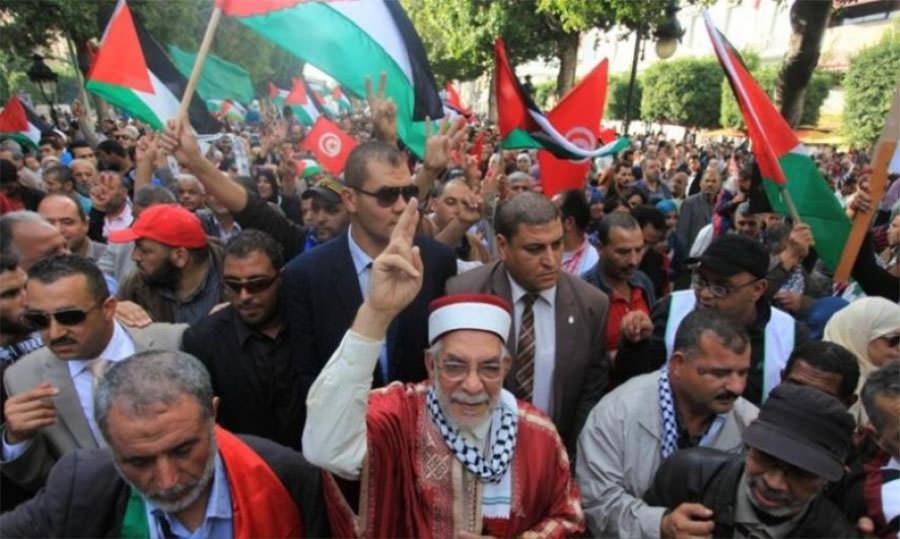 مسيرة لحركة النهضة نصرة للقدس والأقصى في تونس