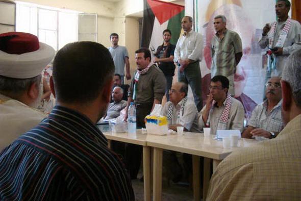 عبد الرحيم ملوح في مخيم البداوي