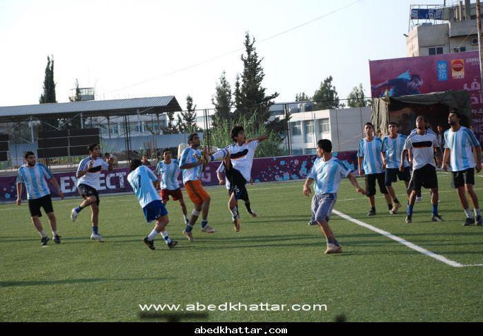 مباراة ودية بين نادي شبيبة فلسطين ونادي الاقصى الرياضي في مخيم البداوي