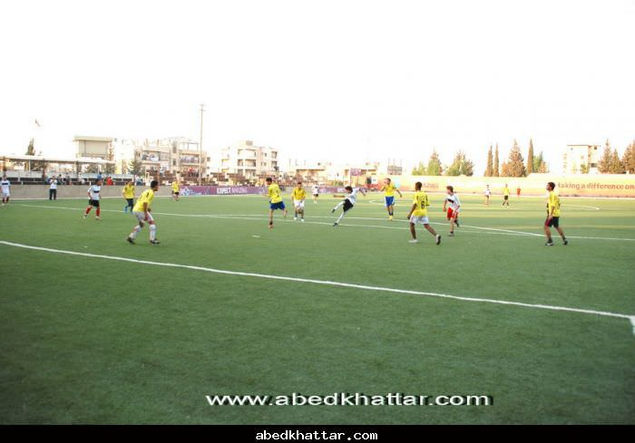 مباراة ودية بين نادي شبيبة فلسطين ونادي الخليل في مخيم البداوي