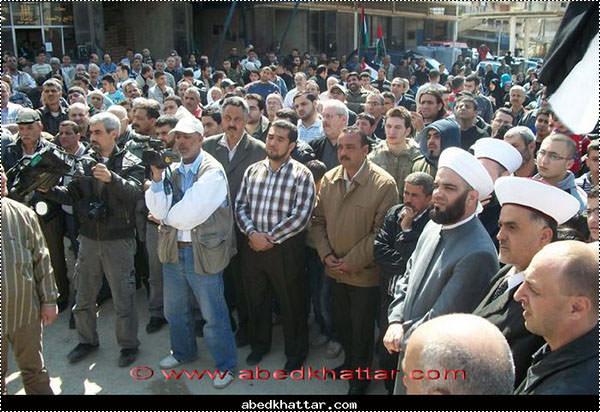 مسيرة جماهيرية حاشدة في مخيم البداوي استنكارا للعدوان المستمر على شعبنا