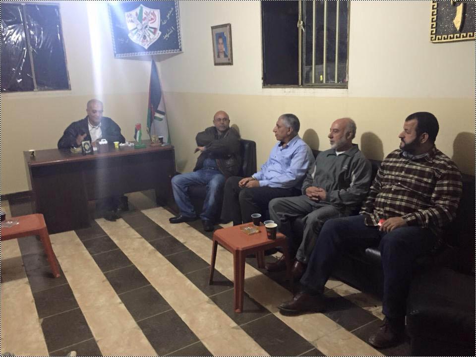 وفد من رابطة أبناء الحولة الاجتماعية يزور حركة فتح الانتفاضة في مخيم البداوي