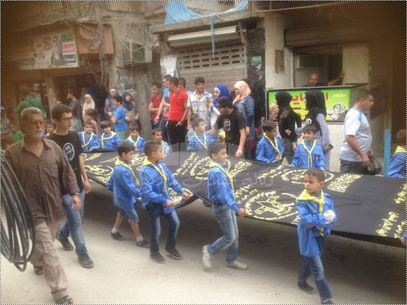 كشافة بيت المقدس تنظم مسيرة جماهيرية في مخيم عين الحلوة