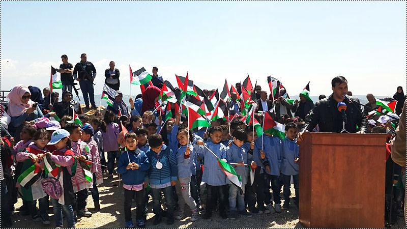 اعتصام للأطفال الفلسطينيين في قلعة الشقيف المطلة على الأراضي المحتلة