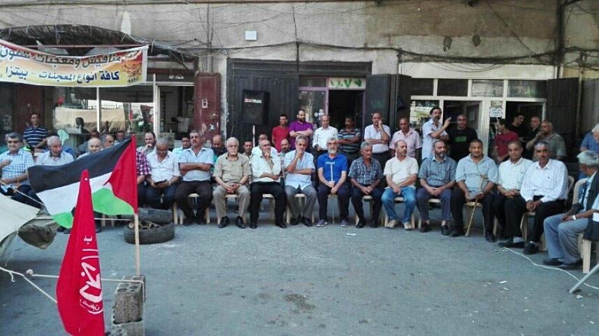 إعتصام تضامني في مخيم البداوي مع الأسرى في السجون الإسرائيلية