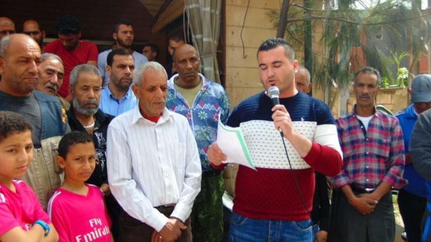اعتصام في مخيم برج الشمالي جنوب لبنان رفضاً لسياسة الأونروا