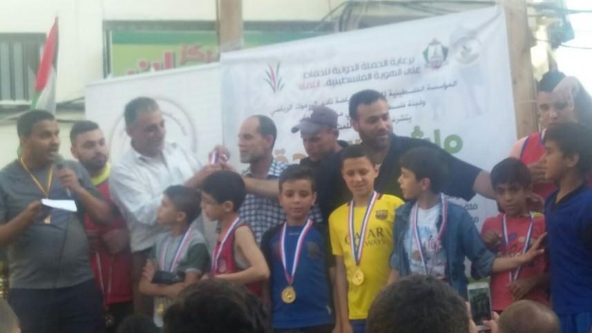 ماراثون رياضي لأطفال مخيم نهر البارد بذكرى 68 للنكبة