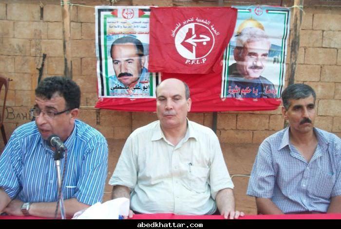 الرفيق ماهر الطاهر عضو المكتب السياسي للجبهة الشعبية بجوله في مخيمات الشمال