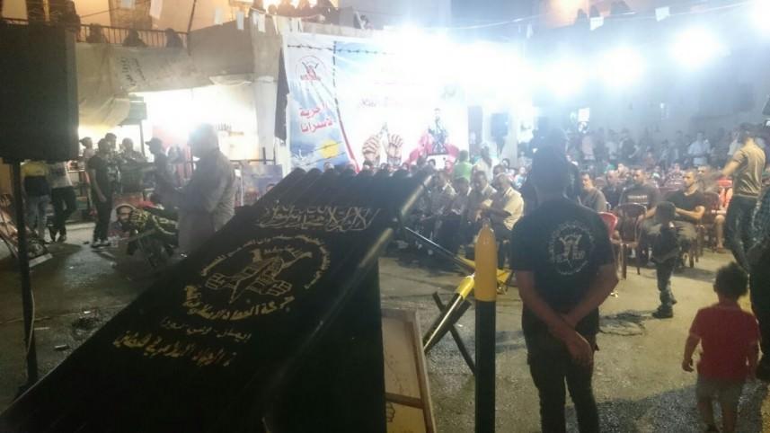 الجهاد تعرض فيلم [ رباط الدم ] في مخيم الجليل