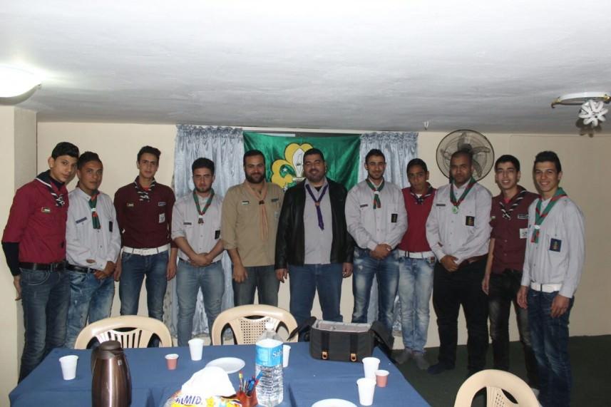 بيت المقدس تزور المؤسسات الكشفية في مخيم نهر البارد