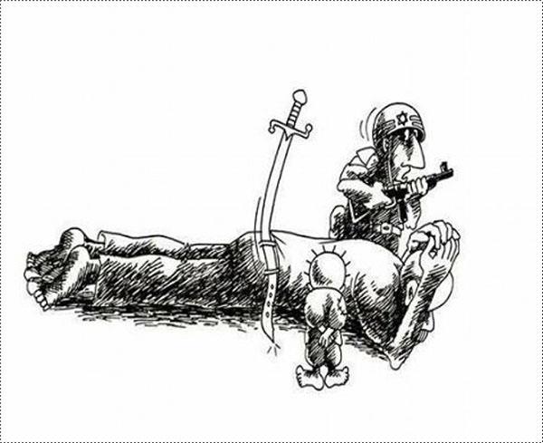 إكتشاف 5 رسوم كاريكاتيرية قديمة لناجي العلي تستشرف انتفاضة السكاكين