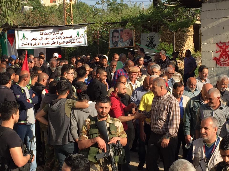 مسيرة جماهيرية في الذكرة 51 لإنطلاقة القيادة العامة في مخيم البداوى