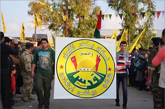 ايقاد شعلة الانطلاقة 49 في مخيم الرشيدية - صور