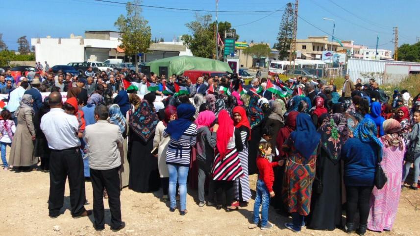 اعتصام في القليلة الجنوبية احتجاجاً على تقليصات الأونروا