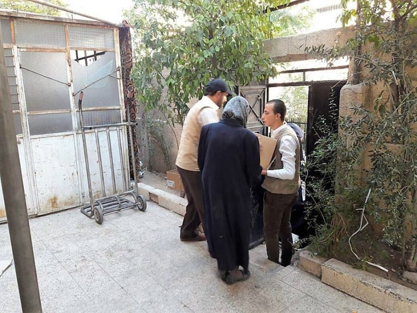 الخيرية || توزع سللاً غذائية بمنطقة ركن الدين في دمشق