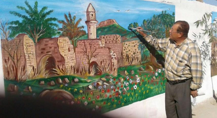 القرى الفلسطينية .. على جدران المخيم