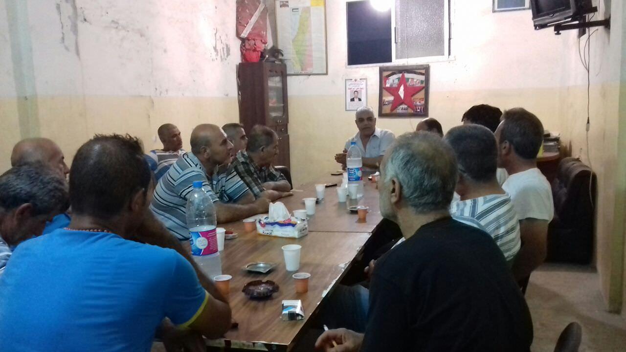 ورشة عمل للجان الوحدة العمالية واتحاد لجان حق العودة مخيم البداوي