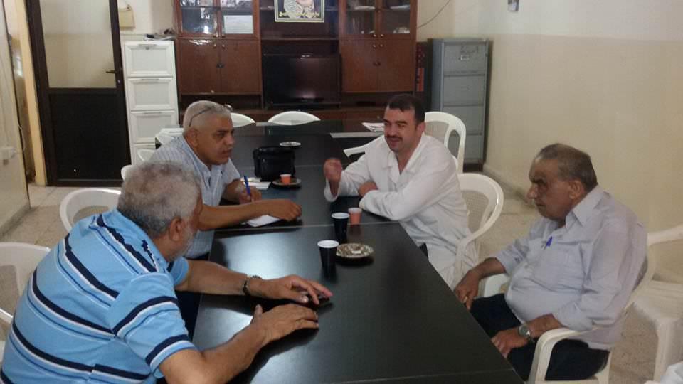 اللجنة الشعبية الفلسطينية وادارة عيادة الاونروا في مخيم البداوي
