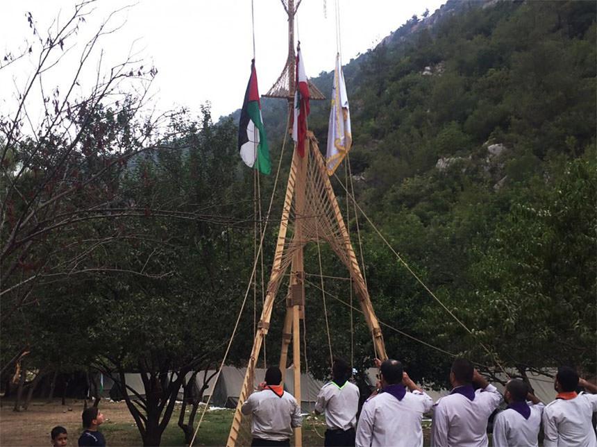 كشافة بيت المقدس تختتم مخيم الشهيد مروان عبد العال في الشمال