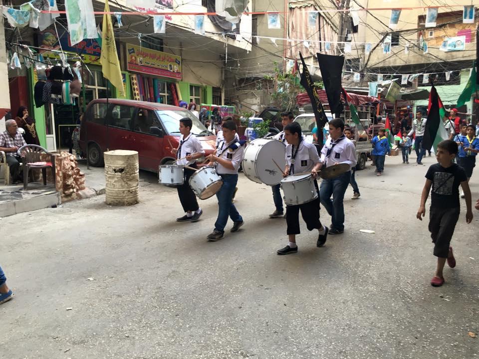 في احياء الذكرى 68 للنكبة مسيرة كشفية في مخيم البداوي