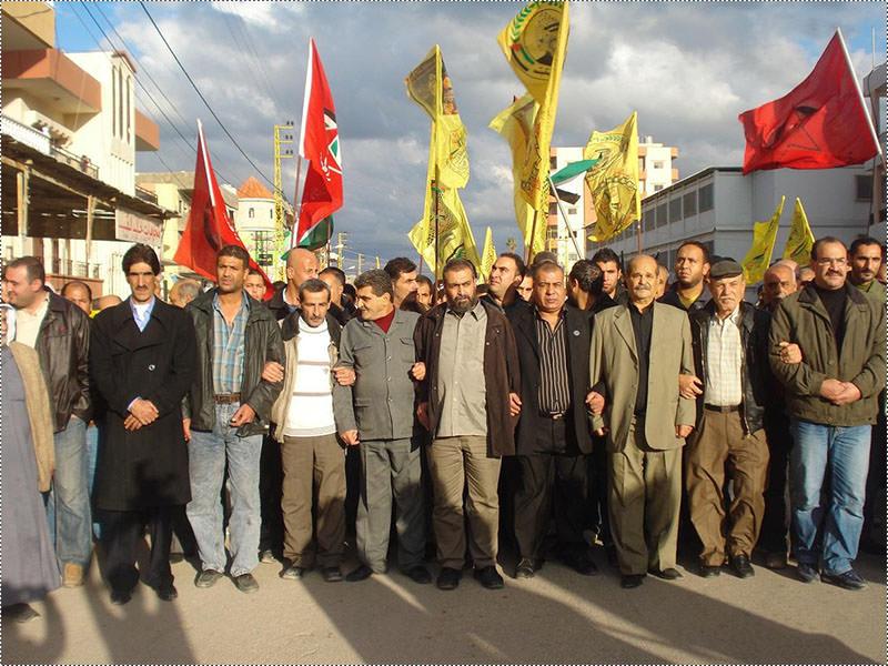مسيرة في مخيم البارد بالذكرى الخامسة والأربعين لانطلاقة حركة فتح