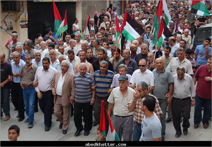 مسيرة جماهيرية في البداوي دعماً للقيادة الفلسطينية في الامم المتحدة